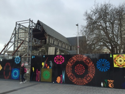 Destroyed ChristChurch Cathedral
