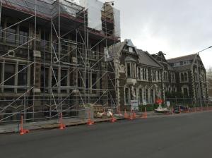 Scaffolded Arts Centre