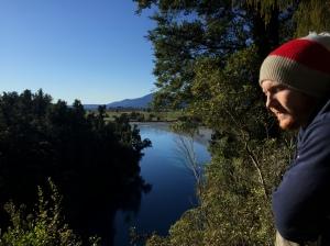 Keates viewing the Hokitika Gorge