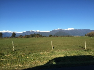 Farmlands along the drive