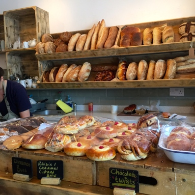 Inside Karma Breads Bakehouse, Hampstead Heath.