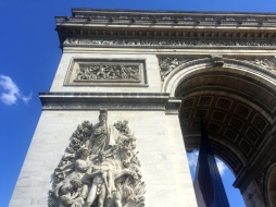 Arc de Triomphe from the front, we hung out here soaking up the sun trying to figure out what to do next.