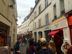 Streets above Sacre Coeur, in the heart of Montmartre