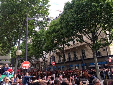 Some crowd action on Bastille Day.
