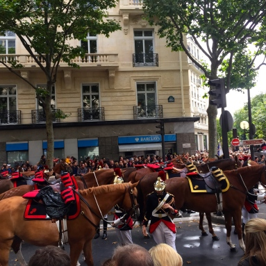 Some horse action on Bastille Day.