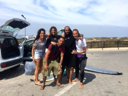 Our little surf gang: Vanessa, Ishay, Moses and Massimo